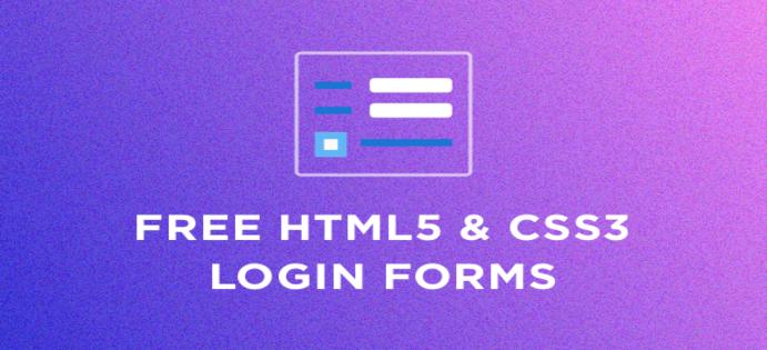 50+ فرم ورود HTML5 و CSS3 رایگان