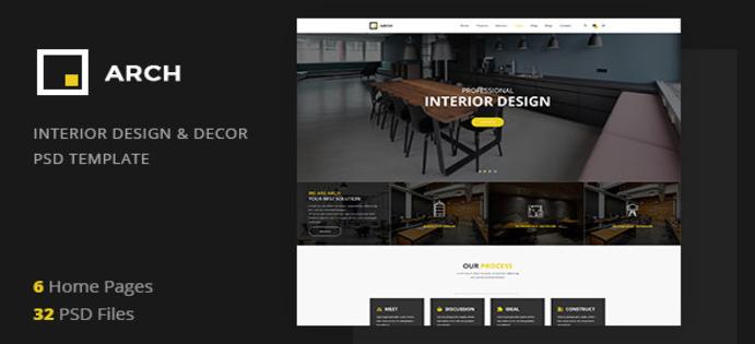 دانلود رایگان قالب PSD سایت معماری