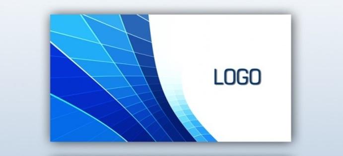 دانلود رایگان طرح لایه باز کارت ویزیت شرکتی آبی PSD