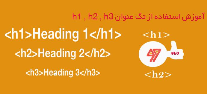 آموزش استفاده مناسب از تگ عنوان h۱ , h۲ , h۳